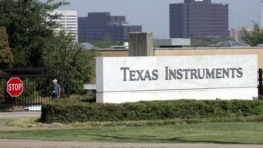 Der Eingang von Texas Instruments in Dallas. Quelle: ap