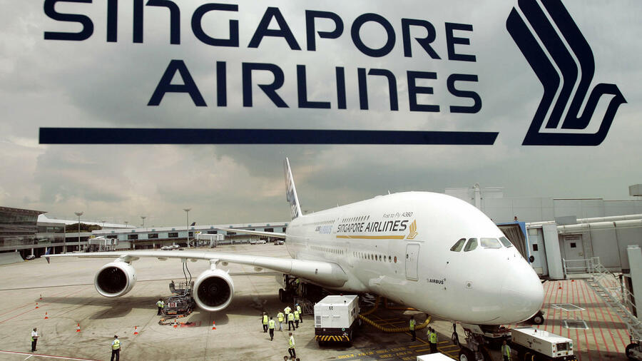Ein Airbus A380 von Singapore Airlines. Quelle: AFP