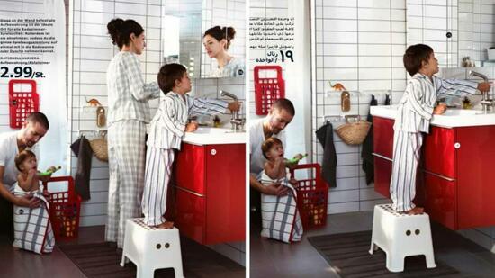 saudi arabien ikea entfernt frauenbilder aus neuem katalog. Black Bedroom Furniture Sets. Home Design Ideas