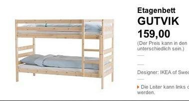 ikea und seine patzer wenn das kinderbett gutvik hei t handel konsumg ter unternehmen. Black Bedroom Furniture Sets. Home Design Ideas