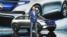 Daimler chief Dieter Zetsche at the auto salon in Paris. Source: Reuters
