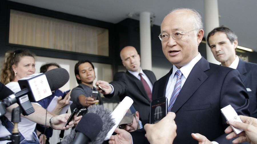 Der Chef der internationalen Atomenergiebehörde IAEA, Amano. Quelle: Reuters