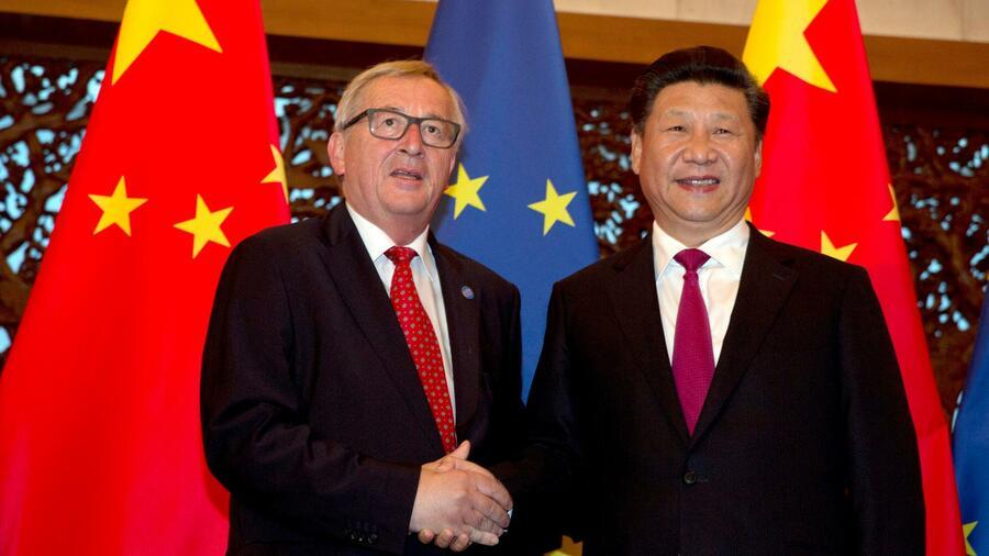Merkel, Macron und Juncker treffen Chinas Präsidenten Xi