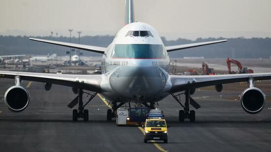 Jumbo der Airline Cathay Pacific