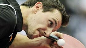 Kein Losglück: Timo Boll. Foto: SID Images/AFP/ Quelle: SID