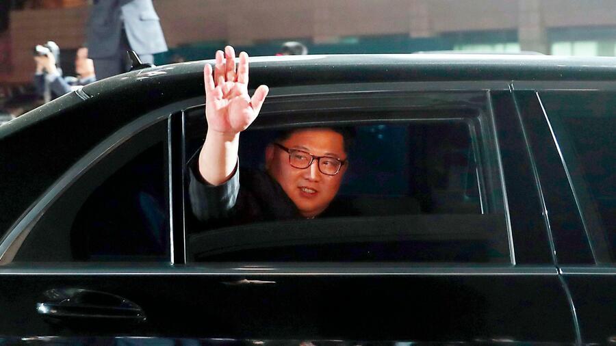 Nordkoreas Machthaber nach seinem Besuch in Südkorea. Quelle AP