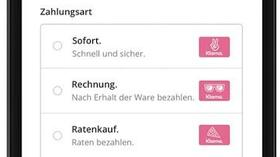 Zahlungsdienstleister Klarna Mit Rosa Logos Gegen Paypal