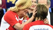 Fußball: Kritik an Kroatiens Präsidentin nach WM-Finale