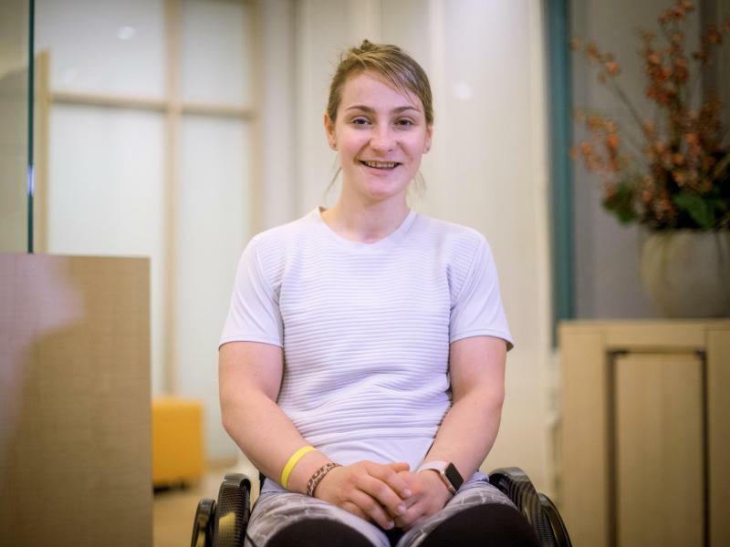 Kristina Vogel testet viele Sportarten