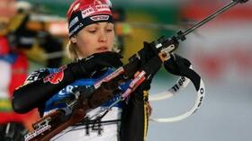 Magdalena Neuner endlich national obenauf. Foto: Bongarts/Getty Images Quelle: SID