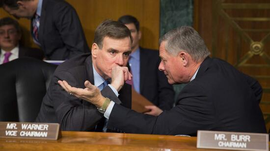 Mark Warner (l) und Richard Burr