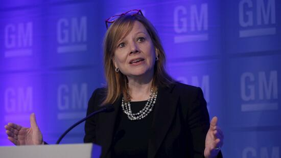 General Motors-Chefin Mary Barra bei einer Rede im Juni 2015. Quelle: Reuters