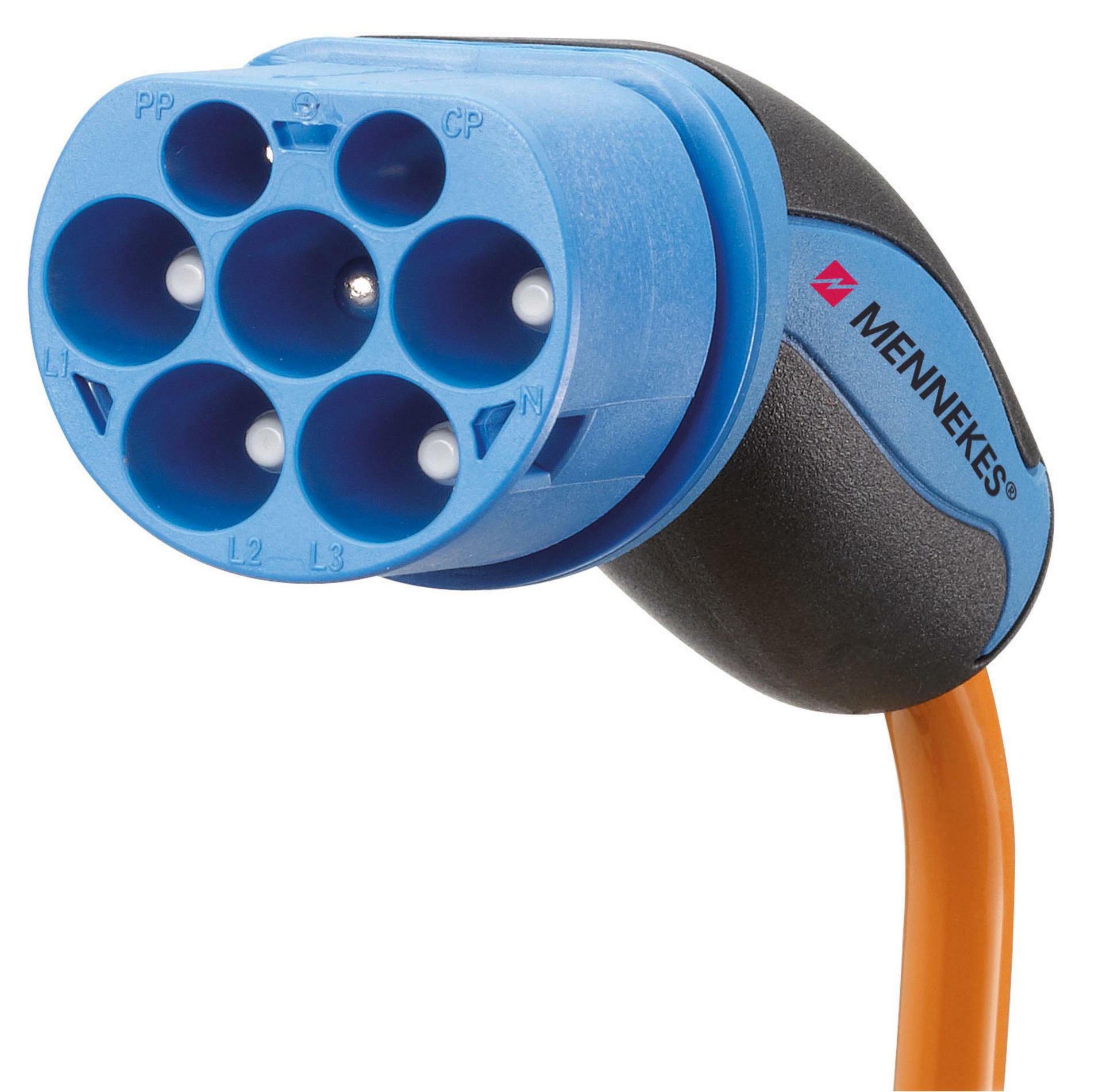 Uno de los 8 tipos de conector de cable de coches eléctricos: Mennekes