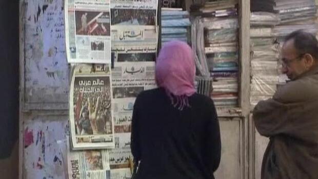 Umbruch Im Nahen Osten Menschen Lassen Sich Den Mund