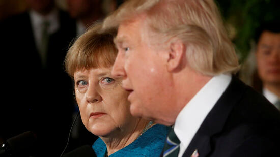 Merkel und Trump in Washington