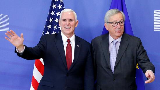 US-Vizepräsident Pence in Brüssel: Ein Treffen zur rechten Zeit