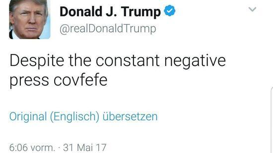 Auf einen #Covfefe mit Donald Trump