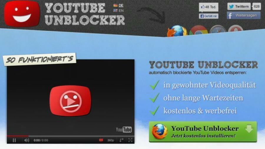 Youtube-Videos trotz Blockade anzeigen