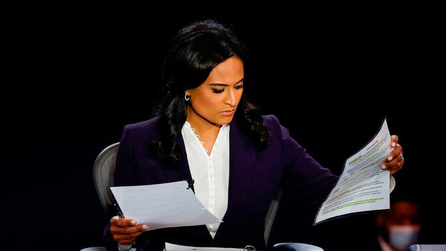 Die Moderatorin Kristen Welker machte bei der letzten Debatte der Präsidentschaftskandidaten einen exzellenten Job. Quelle: AFP
