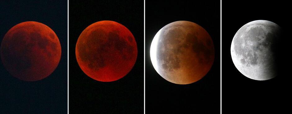 Mondfinsternis Roter Mond Und Großer Mars Faszinieren Beobachter