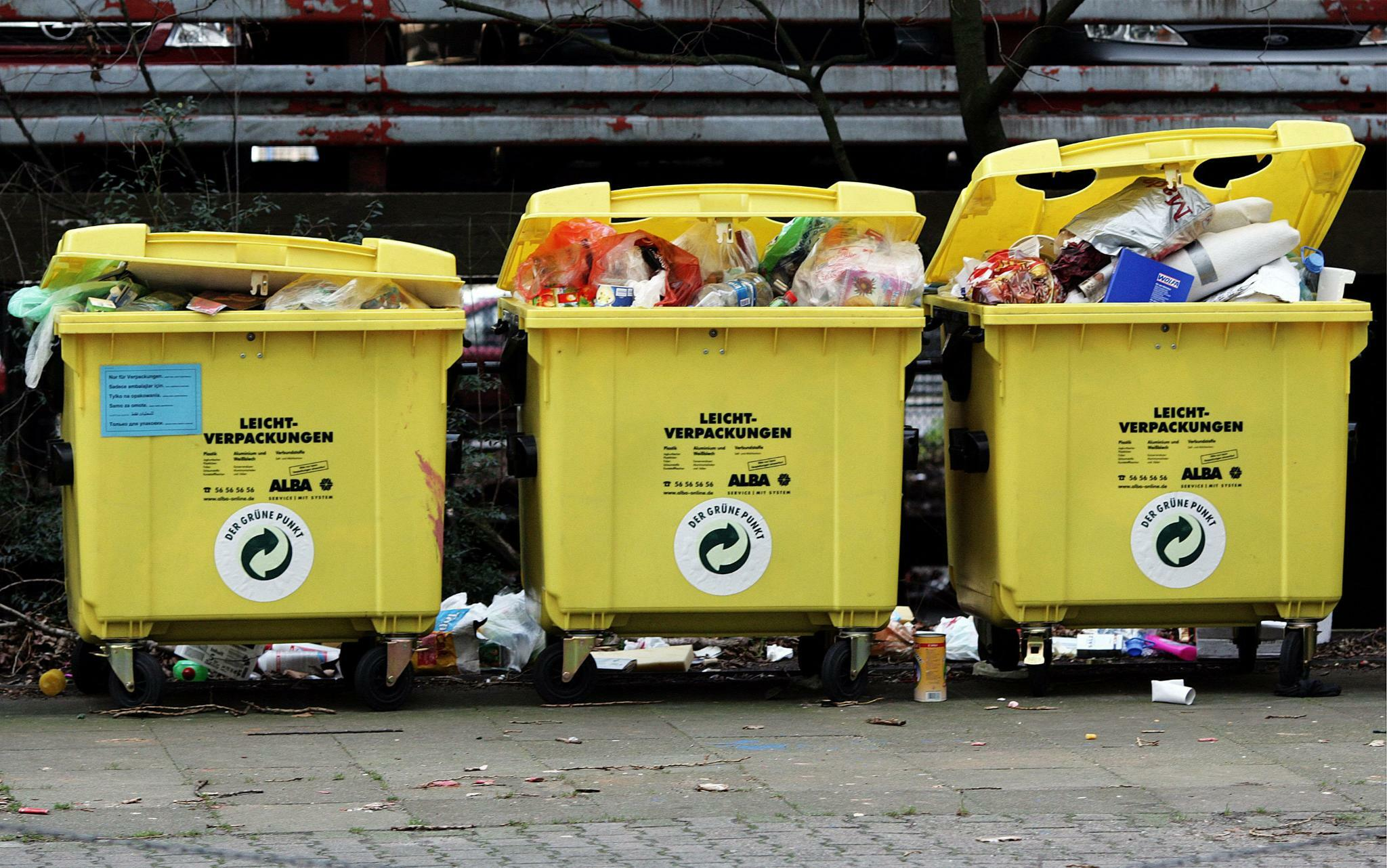 Verpackungsmüll-Aufkommen steigt auf Rekordwert.