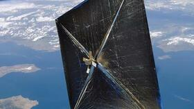 Die Nasa-Illustration zeigt NanoSail-D in entfaltetem Zustand. Foto: Nasa Quelle: Nasa
