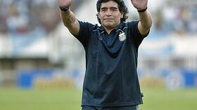 Nationaltrainer Diego Maradona. Foto: Bongarts/Getty Images Quelle: SID