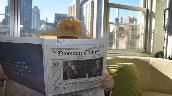 """New York Times"" als ""The Downton Times"""