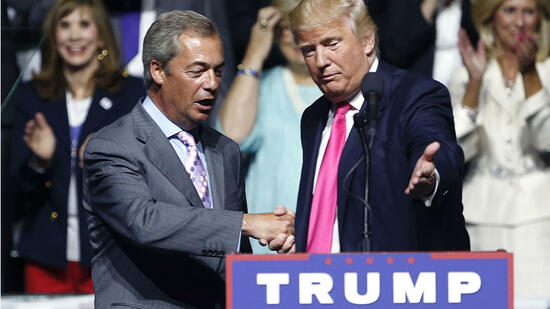Nigel Farage und Donald Trump