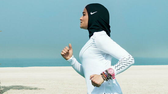 Ein Sport-Kopftuch für muslimische Frauen