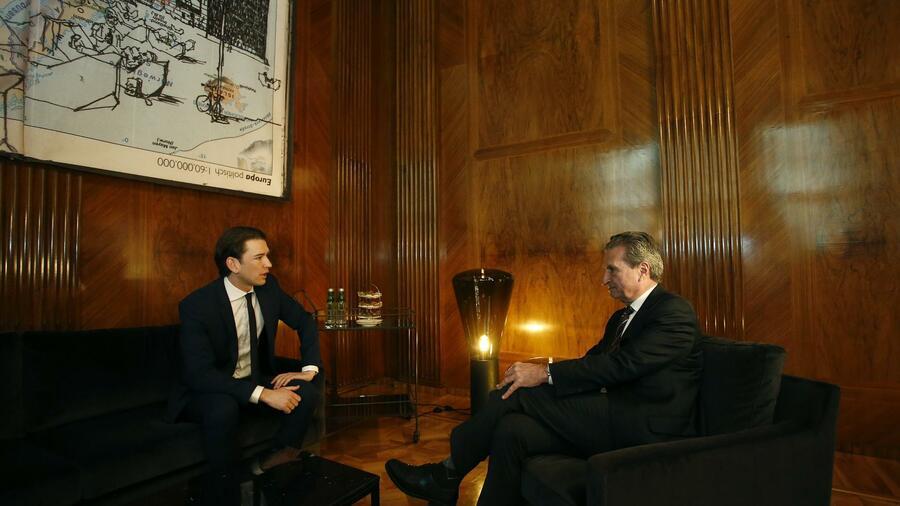 Oettinger in Wien: Österreich pocht auf EU-Sparkurs