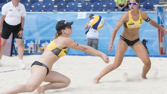 Beachvolleyballerinnen ziehen ins Viertelfinale ein