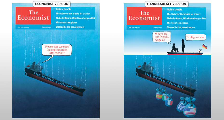 Economist-Titelblätter: Original oder Fälschung?