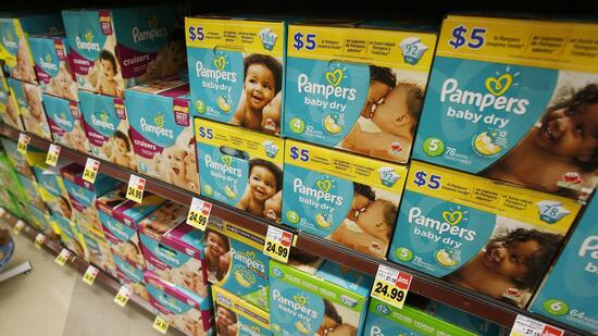 Pampers-Regale