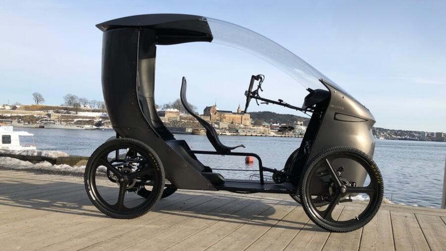 pedelec cityq vier r der dach motor ein fahrrad fast wie ein auto. Black Bedroom Furniture Sets. Home Design Ideas