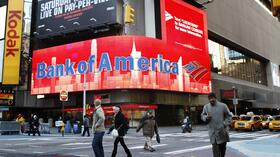 Eine Bank of America Anzeige am Times Square in New York. Quelle: Reuters