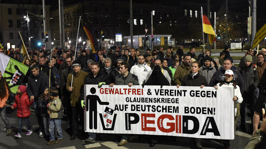 Pegida-Demonstranten