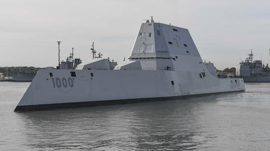 USS Zumwalt: Hightech-Kampfmaschine mit Panne in Panama