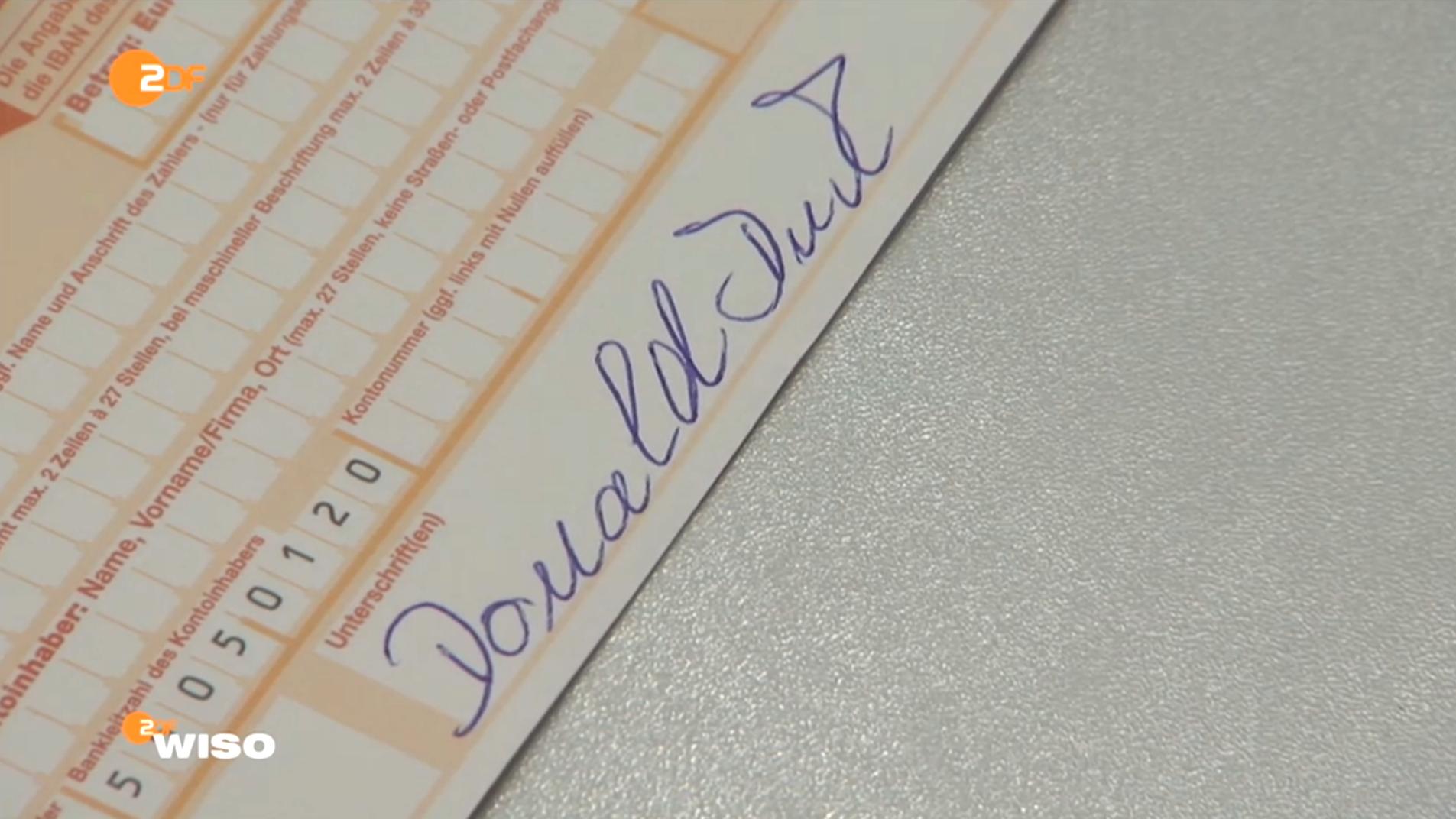 """Vorsicht: Falsche Unterschrift"""": Wenn Donald Duck erfolgreich Geld ..."""
