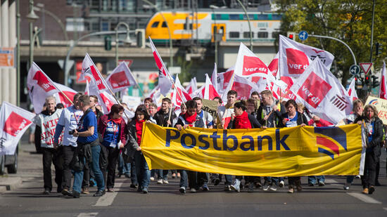 Postbank-Streik in Berlin