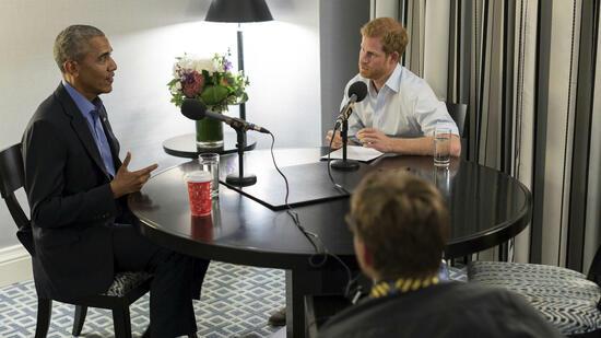Nervöser Prinz trifft Ex-Präsidenten