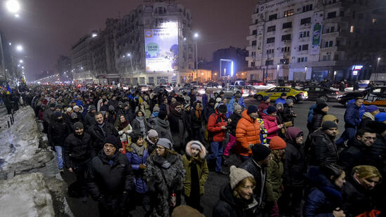 Proteste in Bukarest