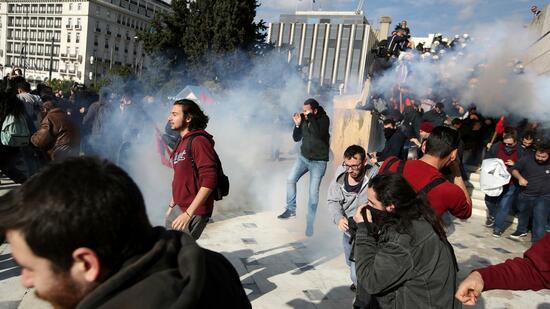 Streik-Chaos in Griechenland