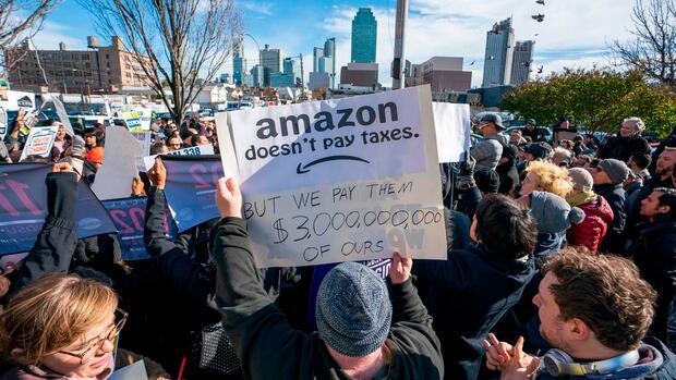 Amazon: Anwohner protestieren gegen neue Zentrale in New York