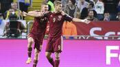Fußball EM: WM-Gastgeber Russland erobert Punkt in Schweden