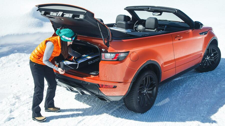range rover evoque cabrio in bildern gel ndeg nger f r. Black Bedroom Furniture Sets. Home Design Ideas
