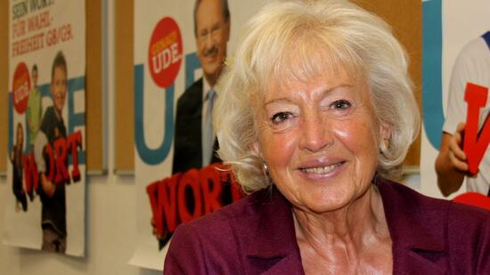 Renate Schmidt trat bei Landstagwahlen in Bayern zwei Mal gegen Edmund Stoiber an. Quelle: - 2-format2010