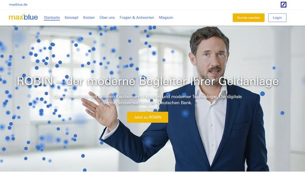 """Deutsche Bank: Hier berät """"Robin"""" – aber nicht ganz billig"""