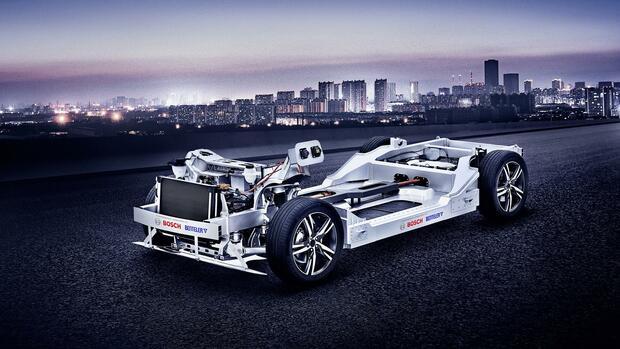 Baukasten für E-Autos: Zulieferer-Trio um Bosch greift etablierte Autobauer an
