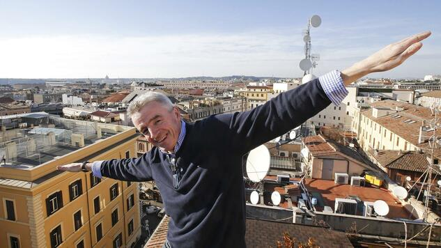 Ryanair CEO Michael O'Leary poses following a news conference in Rome January 27, 2015. REUTERS/Max Rossi (ITALY - Tags: TRANSPORT BUSINESS) Quelle: Reuters